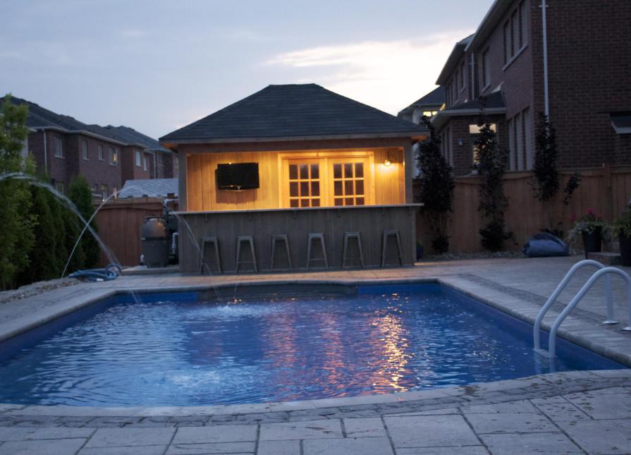 Barside Pool Houses 14x14ft