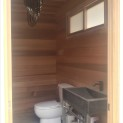 Clear Cedar Trim Verana 10x6 garden shed with single french door in Toronto Ontario. ID number 23164
