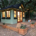 Cedar Sonoma 10x12 garden shed with antique flower boxes in Santa Rosa California. ID number 231694-