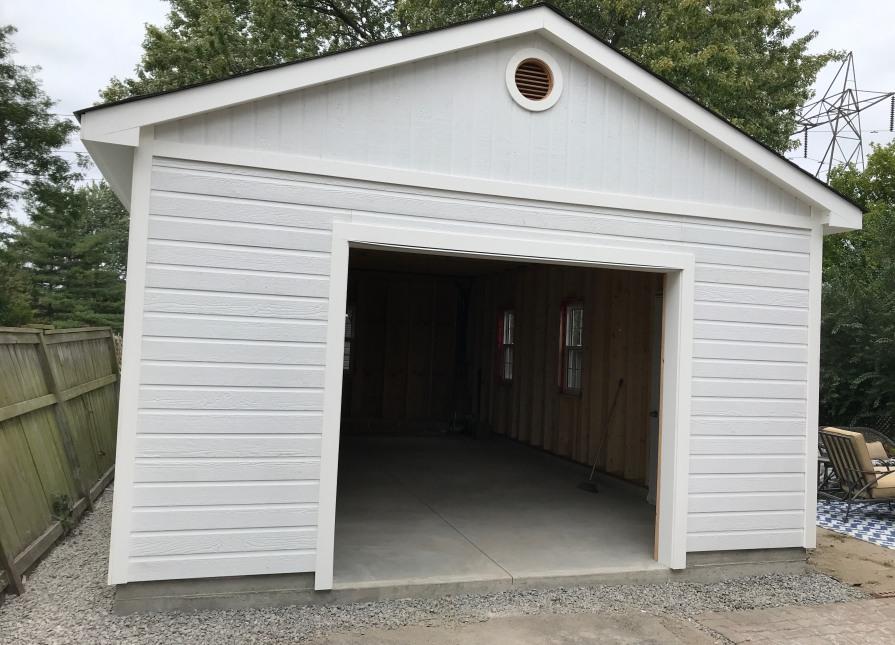 16 X 25 Highlands Garage With Steel Insulated Garage Door In