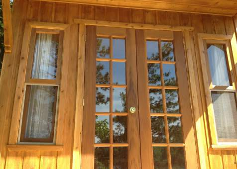 Custom Bala bunkie 10 x 10 with double french doors in Ontario. ID number 165870-2