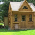 Custom bala bunkie cabin Kit 9 x 12 with 3ft front overhang in Toronto Ontario. ID number 206123-1