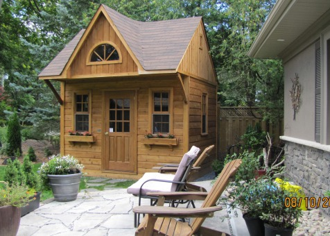Custom bala bunkie cabin Kit 9 x 12 with 3ft front overhang in Toronto Ontario. ID number 206123-2