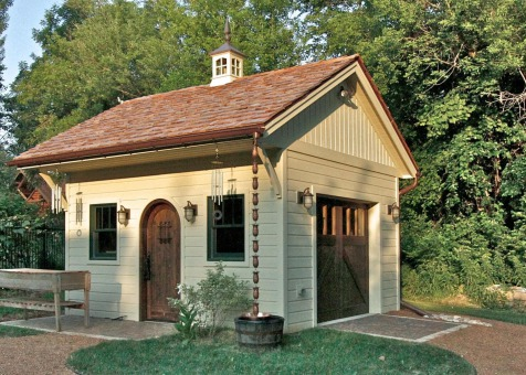 Cedar Glen Echo shed 14 x 16 with windowed cupola in Janesville, Wisconsin. ID number 131092-3