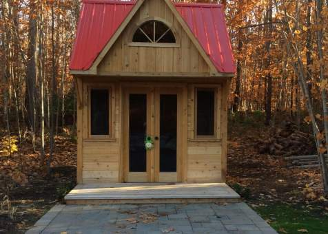 bala bunkie 10x10 home studio with french double doors in Minesing Ontario. ID number 196153-1