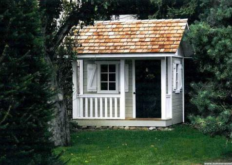 Peach picker porch playhouse 7x7 with ss1 storm shutters in Seattle Washington.ID number 160.