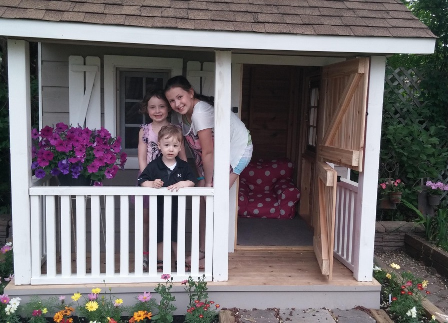 ... Peach Picker Porch 7x7 Playhouse With Dutch Door In Bloomington  Indiana. ID Number 177035