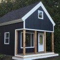 Cheyenne cabin 14x20 with Canexel Midnight Blue siding in Carrying Place Ontario. ID number 194261-2