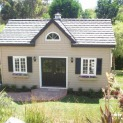 Kepler creek 24x24 cabins with antique flower boxes in Rancho Santa Fe California. ID number 90340-4