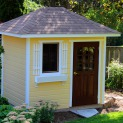 Sonoma 6x8 backyard shed with antique double door Madison Wisconsin. ID number 152810-1
