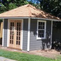 Canexel Sonoma 8x8 garden shed with French double doors in Mississauga Ontario. ID number 194280-1