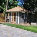 Canexel Sonoma 8x8 garden shed with French double doors in Mississauga Ontario. ID number 194280-2