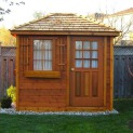 Cedar Sonoma 6x8 garden shed with cedar shingles in Whitby Ontario. ID number 6279-2