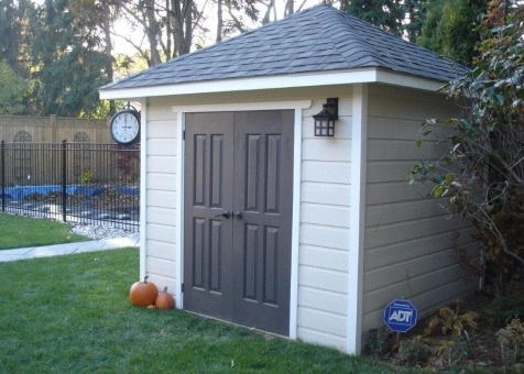 Cedar Sonoma 8x8 garden shed with double doors in Mississauga Ontario. ID number 136820-1