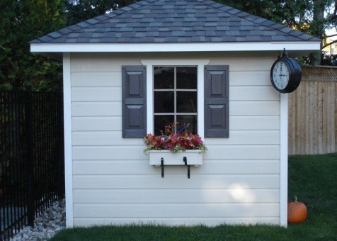 Cedar Sonoma 8x8 garden shed with double doors in Mississauga Ontario. ID number 136820-2