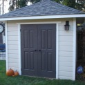 Cedar Sonoma 8x8 garden shed with double doors in Mississauga Ontario. ID number 136820-3