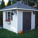 Cedar Sonoma 8x8 garden shed with double doors in Mississauga Ontario. ID number 136820-4