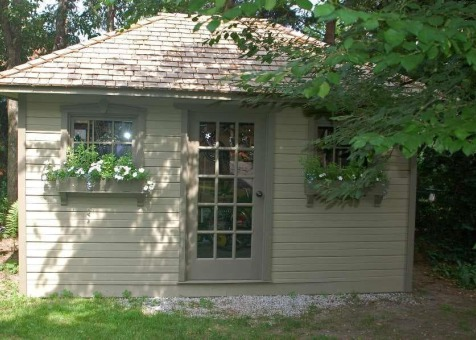 Cedar Sonoma 10x14 backyard shed with  French Doors in Toronto Ontario. ID number 33771-1
