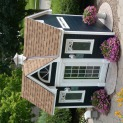 Copper Creek 8x12 garden shed with transom window in Cedarburg Wisconsin. ID number 114324-2