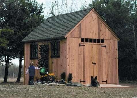 Telluride garden shed 10x12 with double doors in Duluth Minnesota. ID number 64-1.