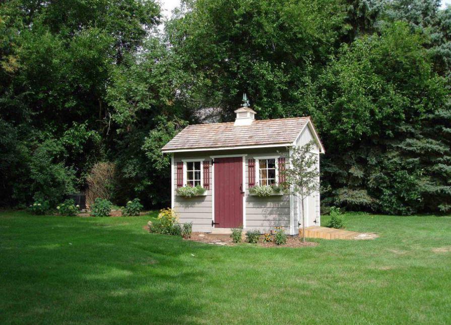 custom 8x12 palmerston shed kit in north barrington, illinois