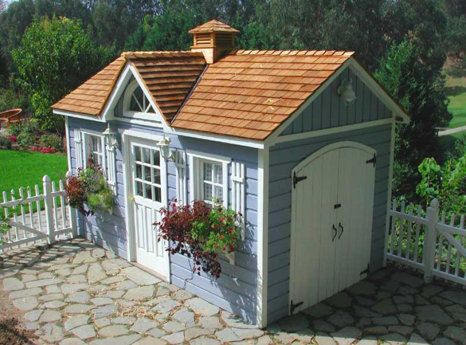 Garden sheds summerstyle for Garden shed pictures