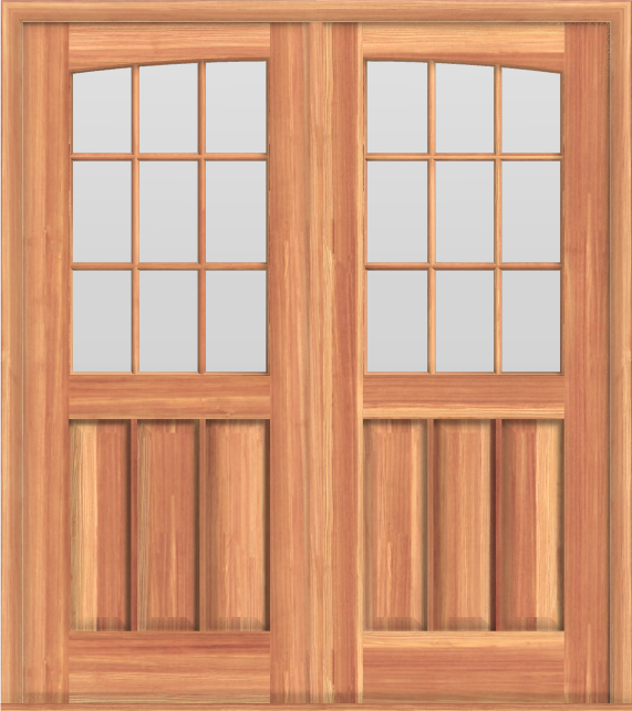 D12 Dbl Arched Deluxe 18-Lite Doors