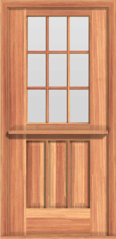 DU6 Deluxe Dutch 9-Lite Single Door