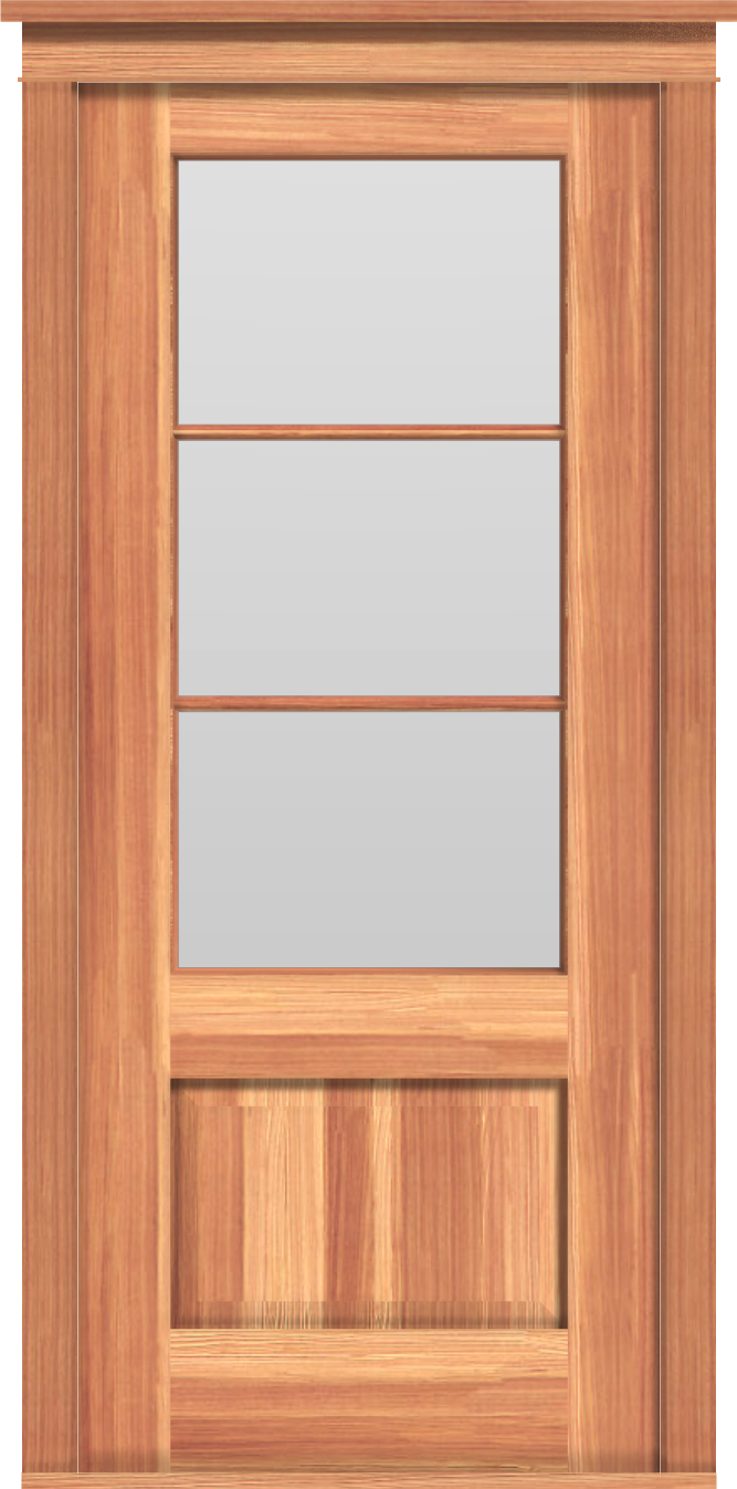 "Traditional 3-Pane Single Door (37 1/2""W)"