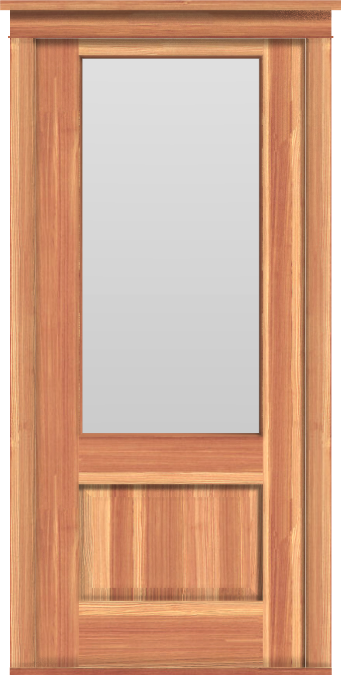 "Contemporary 1-Pane Single Door (37 1/2""W)"