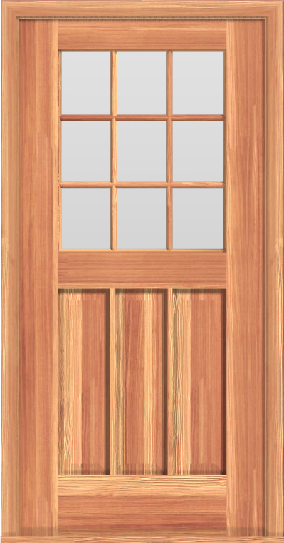 "D6 Deluxe 9-Lite Single Door (34""W)"