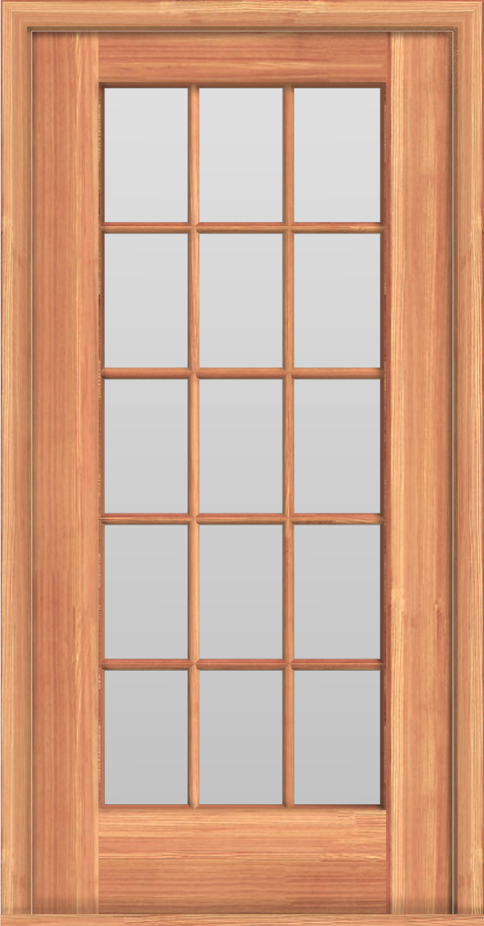 D8 Single French 15-Lite Door