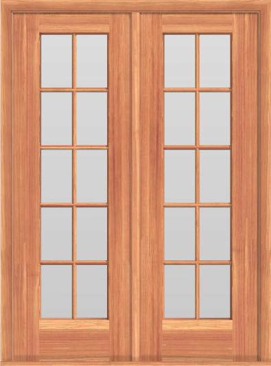 D9 French 20-Lite Double Doors