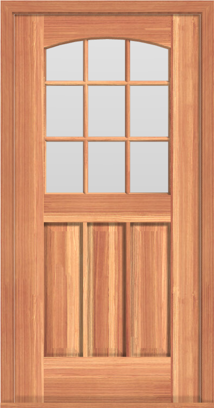 D11 Deluxe Arched 9-Lite Single Door