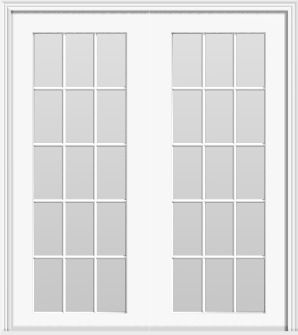 "Metal French 30-Lite Double Doors (Polytex Coating, 68""W)"