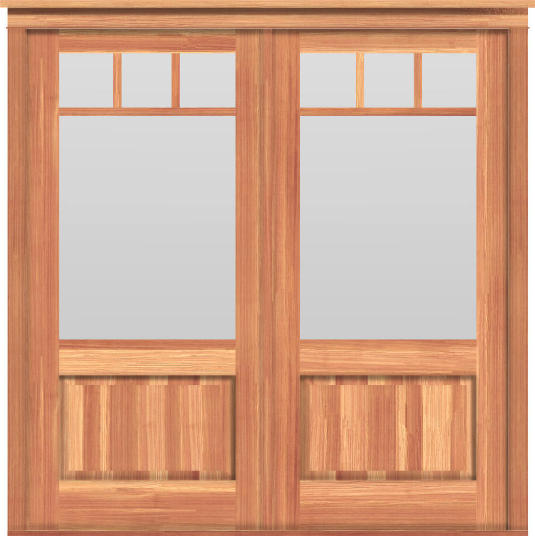 Arts & Crafts Double Doors