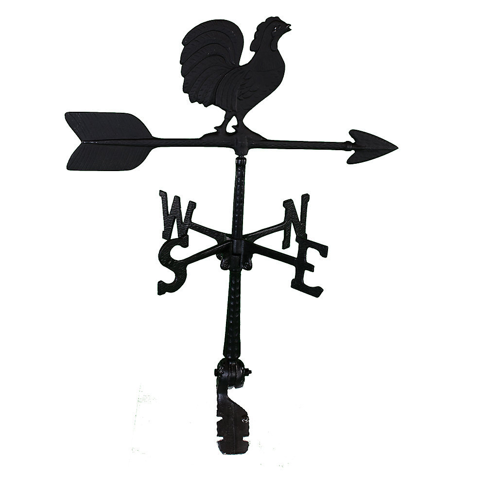 Black Al. Rooster Weathervane