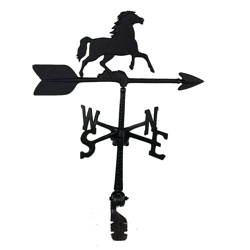 Black Al. Horse Weathervane