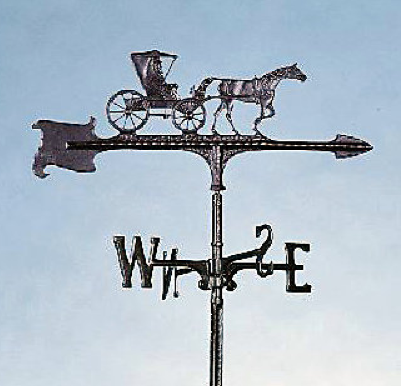Black Al. Country Weathervane