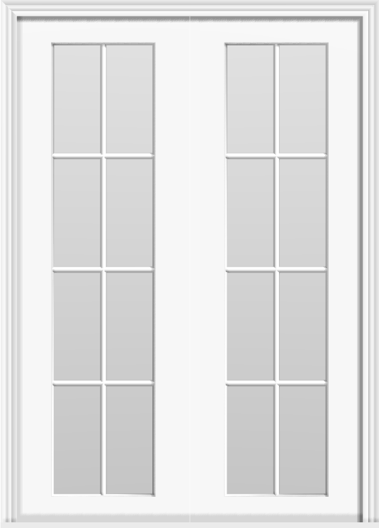 "Metal French 16-Lite Double Doors (Polytex Coating, 56""W)"
