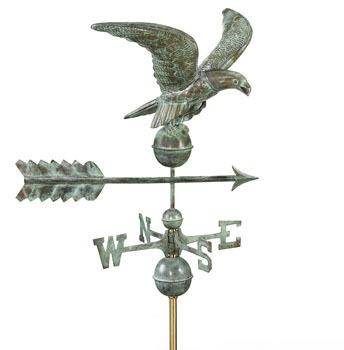 Copper Eagle Weathervane (Blue Verde)