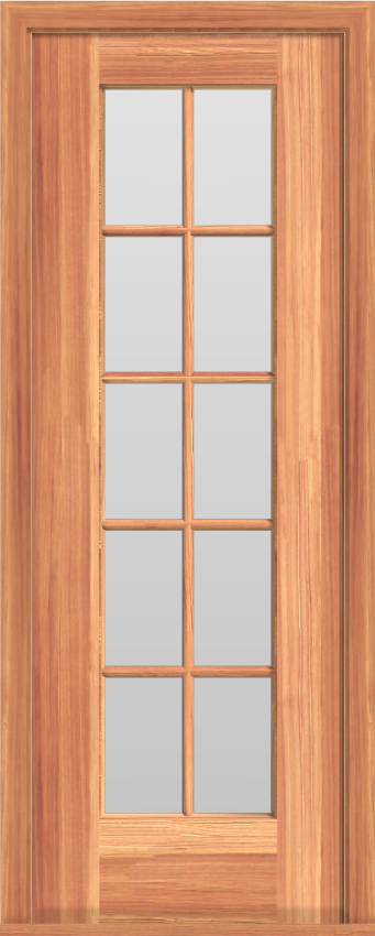 "SD9 Single French 10-Lite Door (25""W)"