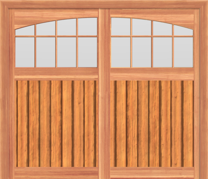 SCGD509 - Summerwood Cedar Carriage Garage Doors 509
