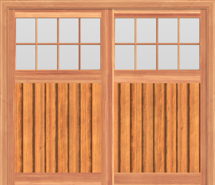 SCGD510 - Summerwood Cedar Carriage Garage Doors 510