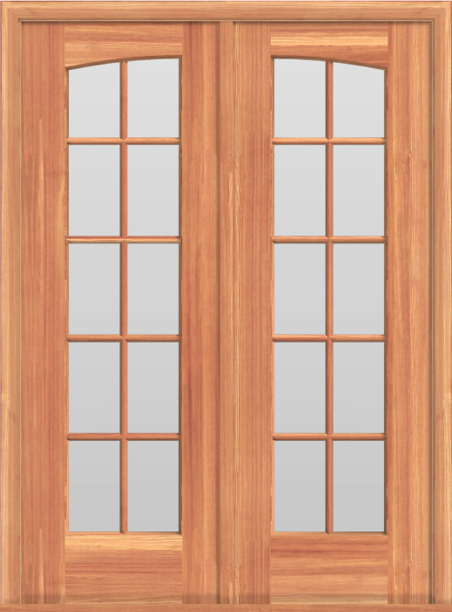 D13 Curved Double French 20-Lite Doors