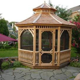 Our Classic Screen kit helps keep away the bugs so you can enjoy your gazebo!