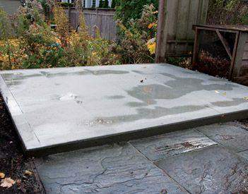 Foundation information concrete pads Summerwood
