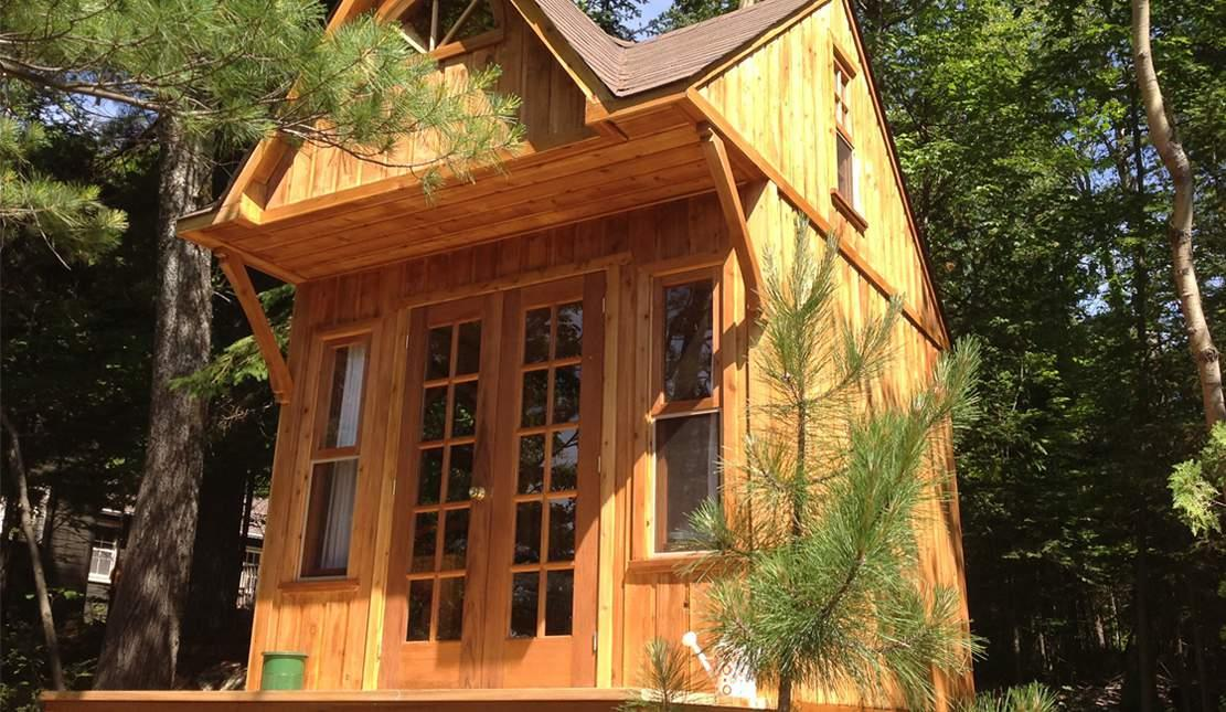 The Bala Bunkie - One Of Our Star Cabin Kits | Summerwood Ultimate Pod Style Home Design on pod houses, pod housing additions, small sustainable home design, office pod design, yurt interior floor plans design,