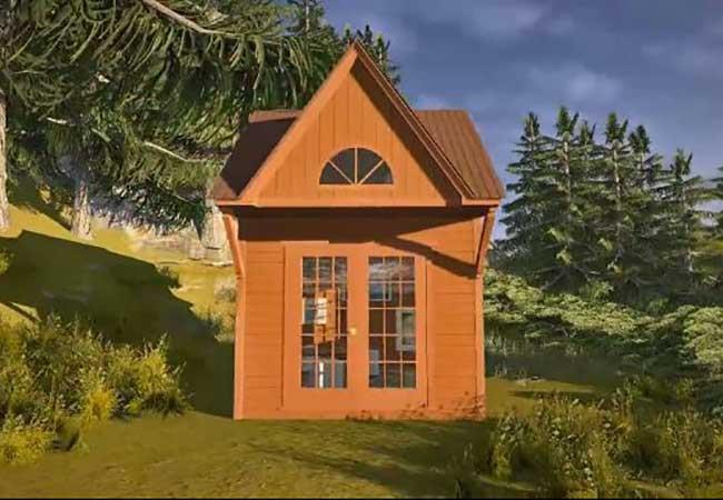 Cabin Take A 3D Tour Western red cedar siding Summerwood