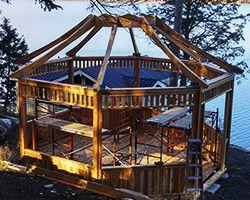 Gazebo building material framing Summerwood